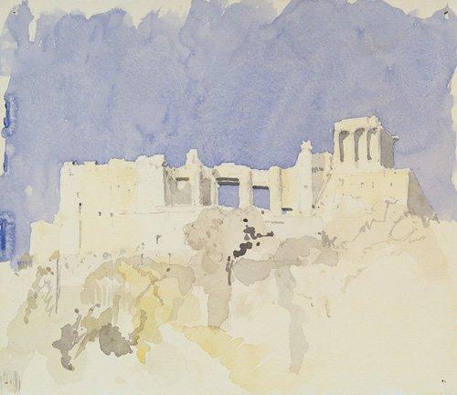 cuadros-abstractos - Cuadro -Acropolis, Athens, 1994 (w.c on paper)- - Millar, Charlie