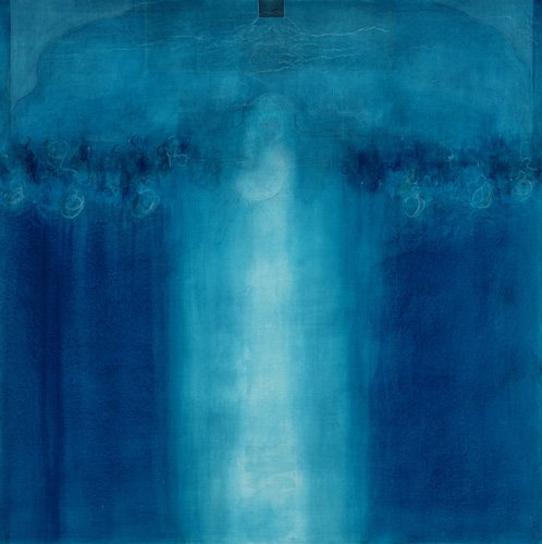 cuadros-abstractos - Cuadro -Untitled blue painting, 1995 (oil on canvas)- - Millar, Charlie