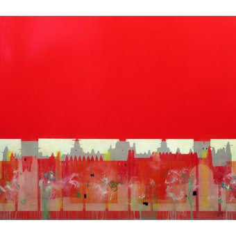 cuadros abstractos - Cuadro  -Red Painting (oil on linen)- - Millar, Charlie