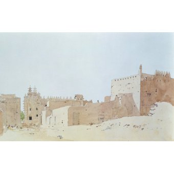 cuadros abstractos - Cuadro  -Djenne (Mali) Grande Mosquee, Monday, 2000 (w.c on paper)- - Millar, Charlie