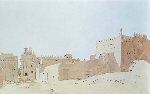 cuadros-abstractos - Cuadro  -Djenne (Mali) Grande Mosquee, Monday, 2000 (w.c on paper)- - Millar, Charlie