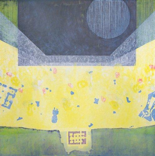 cuadros-abstractos - Cuadro  -Between Emmanuel and Gabriel (Big Fun), 1998 (oil on canvas)- - Millar, Charlie