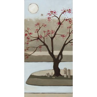 - Cuadro  - Cherry Tree, Winter, 2013, (oil on wood panel) - - Moore, Megan