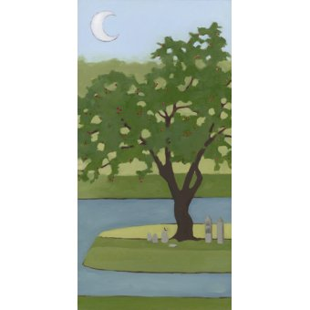 - Cuadro  - Cherry Tree, Summer, 2013, (oil on wood panel) - - Moore, Megan