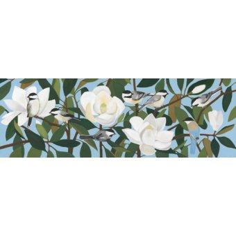 cuadros de flores - Cuadro  - Chickadees & Azure-Winged Magpie- - Moore, Megan