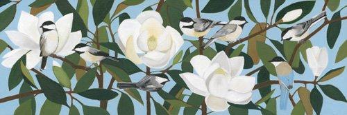 cuadros-de-paisajes - Cuadro  - Chickadees & Azure-Winged Magpie- - Moore, Megan