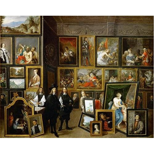 Cuadro -Visita del Archiduque Leopoldo Guillermo al taller de Teniers-