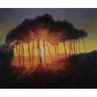 Hall - Cuadro -Wild Trees at Sunset, 2002 (oil on canvas)- - Myatt, Antonia