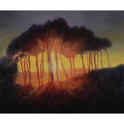 Cuadro -Wild Trees at Sunset, 2002 (oil on canvas)-