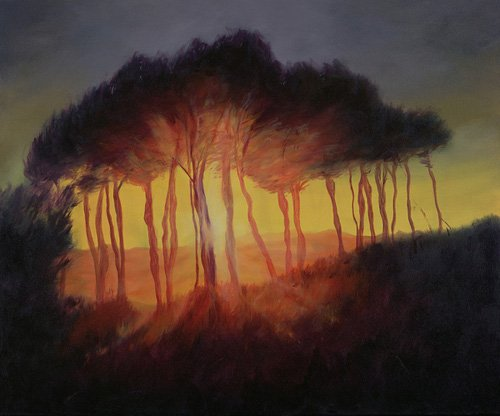cuadros-modernos - Cuadro -Wild Trees at Sunset, 2002 (oil on canvas)- - Myatt, Antonia