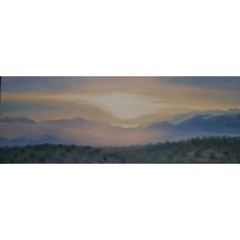 Cuadro -Sunrise over Sierra Nevada, 2014 (oil on canvas)-