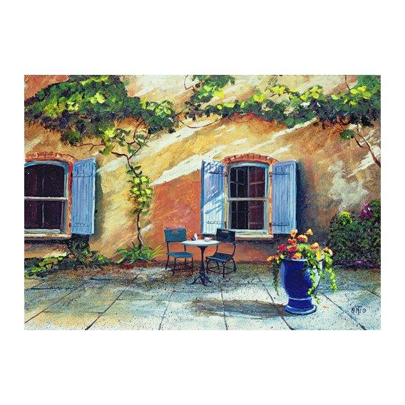 Cuadro -Shuttered Windows, Provence, France, 1999 (oil on board) -