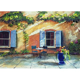 - Cuadro -Shuttered Windows, Provence, France, 1999 (oil on board) - - Neal, Trevor