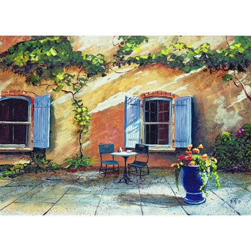Cuadro -Shuttered Windows, Provence, France, 1999 (oil on board) -