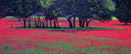 cuadros-de-paisajes - Cuadro -Red Shock, 1999- - Neal, Trevor
