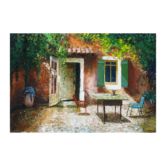 Cuadro -French Patio, 2006 (oil on board) -