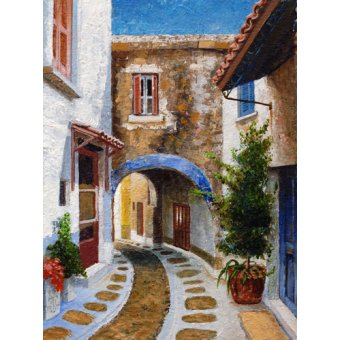 - Cuadro -Lefkimi, Corfu, 2006 (oil on board)- - Neal, Trevor