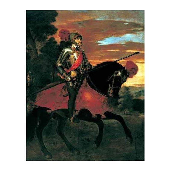 cuadros de retrato - Cuadro -Retrato ecuestre de Carlos V en Mühlberg-