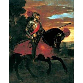 Cuadro -Retrato ecuestre de Carlos V en Mühlberg-