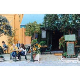 cuadros de paisajes - Cuadro -Cafe, Aix-En-Provence, 1999- - Neal, Trevor