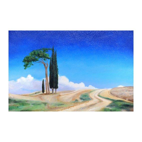 Cuadro -4 Trees, Picenza, Tuscany, 2002-