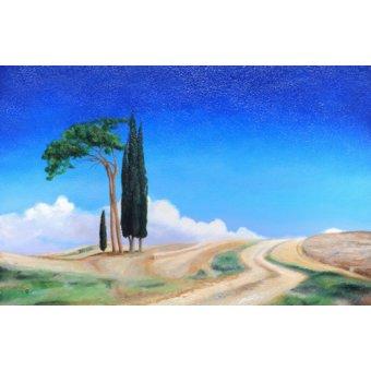 - Cuadro -4 Trees, Picenza, Tuscany, 2002- - Neal, Trevor