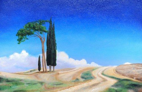 cuadros-de-paisajes - Cuadro -4 Trees, Picenza, Tuscany, 2002- - Neal, Trevor