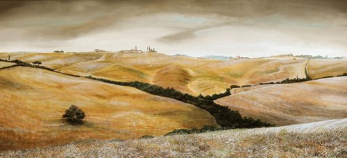 cuadros-de-paisajes - Cuadro -Farm on Hill, Tuscany, 2001 - - Neal, Trevor