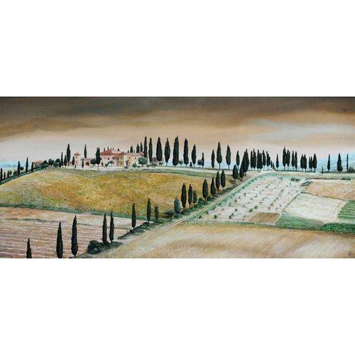 Cuadro -Villa on Hill, Tuscany, 2001-