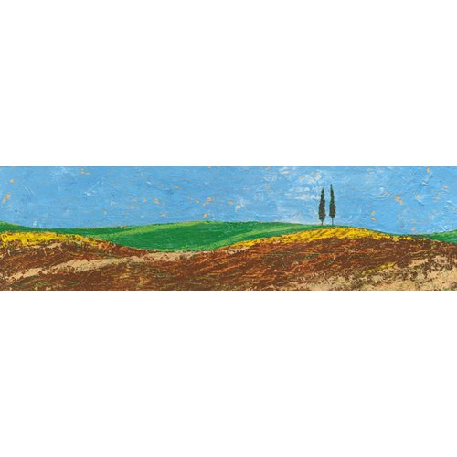 Cuadro -Two Trees, Rolling Hills, Tuscany, 2005-
