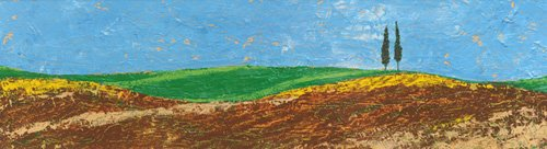cuadros-de-paisajes - Cuadro -Two Trees, Rolling Hills, Tuscany, 2005- - Neal, Trevor