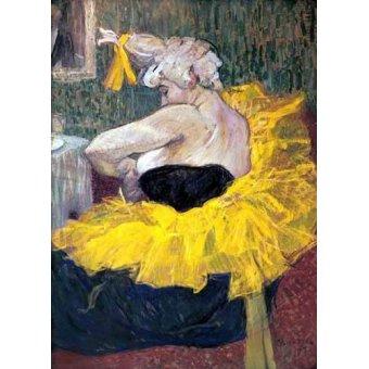 - Cuadro -La payasa Cha-u-Kao- - Toulouse-Lautrec, Henri de