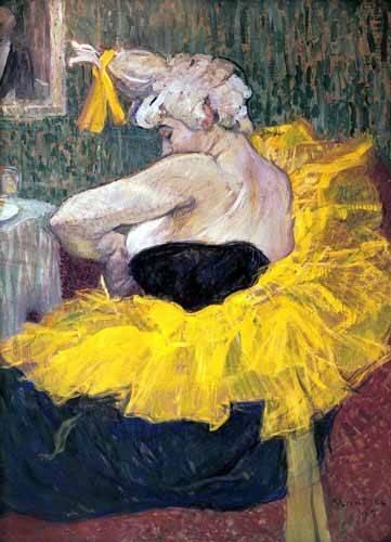 cuadros-de-retrato - Cuadro -La payasa Cha-u-Kao- - Toulouse-Lautrec, Henri de