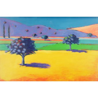 Hall - Cuadro - Castlemorton (acrylic on card) - - Powis, Paul