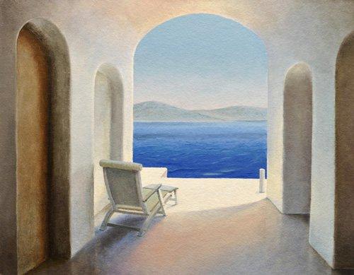 cuadros-de-paisajes - Cuadro -Santorini 9- - Neal, Trevor