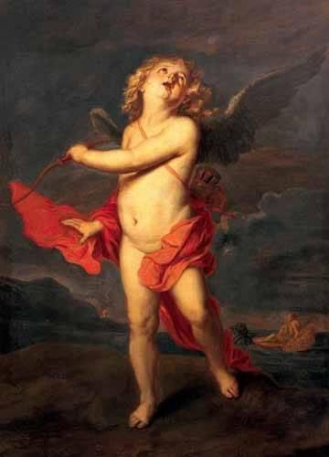 cuadros-de-retrato - Cuadro -El amor vencedor del universo- - Van Dyck, Anton
