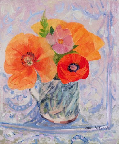 cuadros-de-flores - Cuadro -The Red Poppy, 2000- - Patrick, Ann
