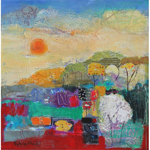 Cuadro - Colours of Summer 2014 acrylic.paper collage-
