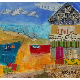 - Cuadro - B&B by the Sea 2013, acrylic.paper collage- - Paul, Sylvia