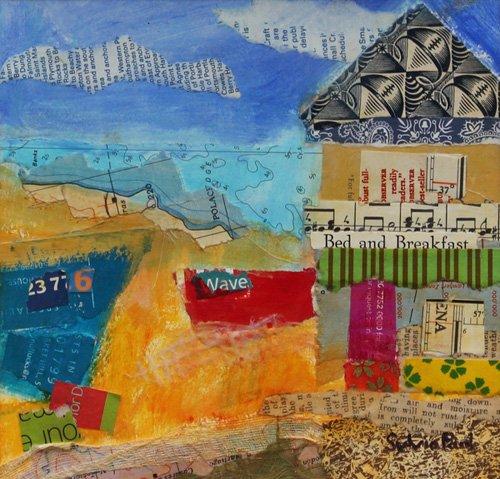 cuadros-modernos - Cuadro - B&B by the Sea 2013, acrylic.paper collage- - Paul, Sylvia
