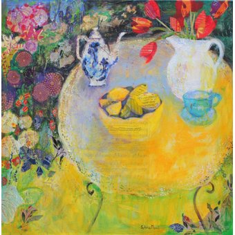 - Cuadro - Lemon Tea in the Garden- - Paul, Sylvia