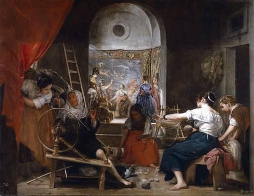 cuadros-de-retrato - Cuadro -Las hilanderas- - Velazquez, Diego de Silva