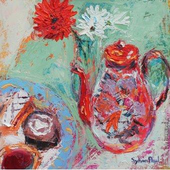 - Cuadro - Teatime- - Paul, Sylvia