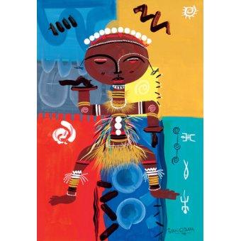 cuadros etnicos y oriente - Cuadro -Ashanti, 2004- - Perrin, Oglafa Ebitari