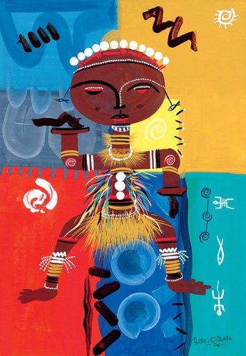cuadros-etnicos-y-oriente - Cuadro -Ashanti, 2004- - Perrin, Oglafa Ebitari