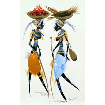 cuadros etnicos y oriente - Cuadro -Black Models, 2008- - Perrin, Oglafa Ebitari