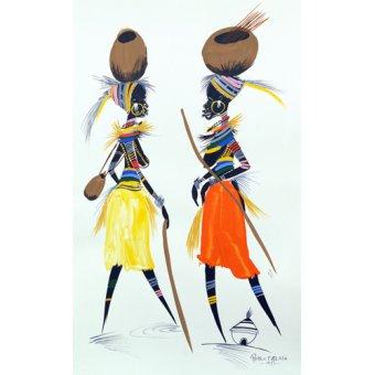 cuadros etnicos y oriente - Cuadro -Black Models (II), 2008- - Perrin, Oglafa Ebitari