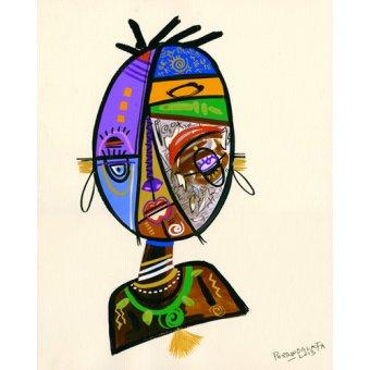 cuadros etnicos y oriente - Cuadro -Just me, 2013- - Perrin, Oglafa Ebitari