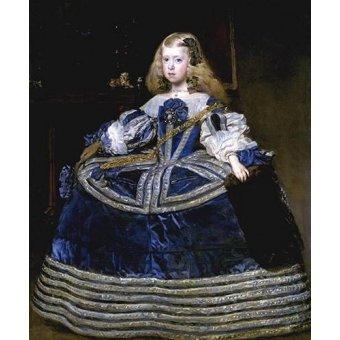 - Cuadro -Retrato de la Infanta Margarita, a la edad de ocho anios- - Velazquez, Diego de Silva