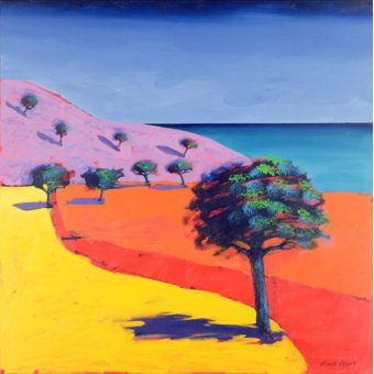 cuadros de paisajes - Cuadro - Red Path (acrylic on card)- - Powis, Paul